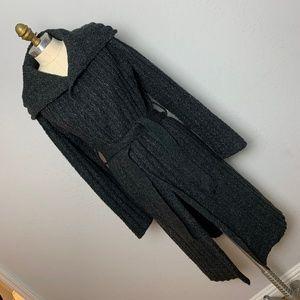 Vera Wang M Long Grey Gray Maxi Wrap Sweater